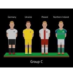 Football players Soccer teams Germany Ukraine vector