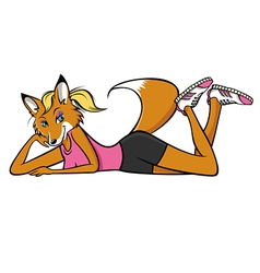 Foxy fitness vector