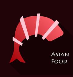 Fried shrimp icon cartoon of shrimp icon vector