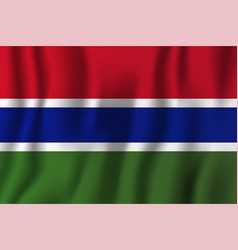 gambia realistic waving flag national country vector image