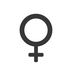 gender female circle sign icon graphic vector image