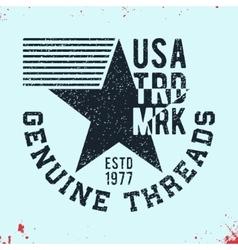 Genuine thread vintage stamp vector