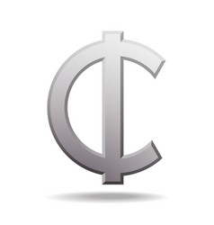 ghana cedi sign icon money symbol vector image