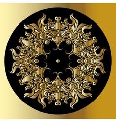 Gold mandala vector
