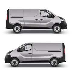 gray minivan right and left side view vector image