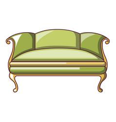 green sofa icon cartoon style vector image