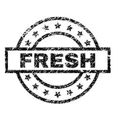 Grunge textured fresh stamp seal vector