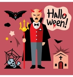 Halloween devil Cartoon vector