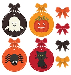 halloween labels vector image