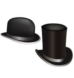hat and cylinder vector image