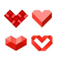 Heart shaped symbols vector image