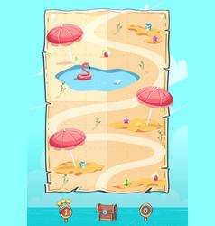 hello summer level map vertical user interface vector image