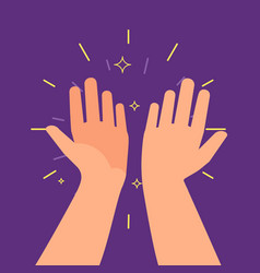 High five hands two hands giving a high five vector