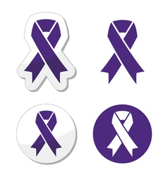 Indigo ribbon - bullying stalking awareness vector