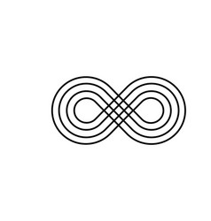 Infinity symbol icon unlimited infinity endless vector