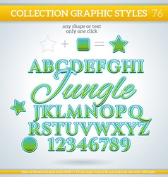 Jungle Graphic Styles for Design use for decor vector image