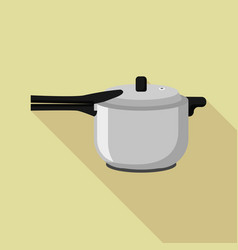 kitchen metal cooker icon flat style vector image