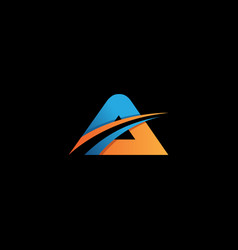 letter design concept a vector image