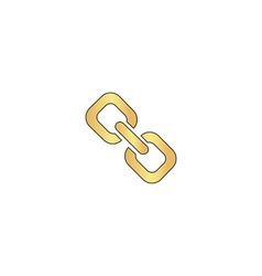 Link computer symbol vector image