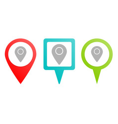location pin icon multicolor pin icon vector image