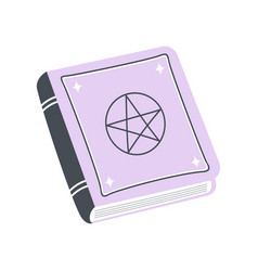 magic with spell book isolated on white vector image