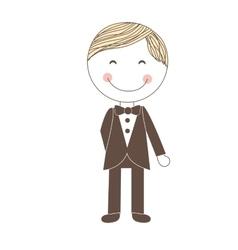 Man wedding icon vector
