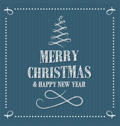 merry christmas and happy new year sribble vector image