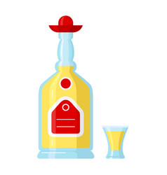 mexican tequila liquor beverage made from the vector image