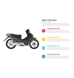 Motorbike infographics template with 4 points of vector