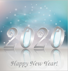 New 2020 year greeting card vector