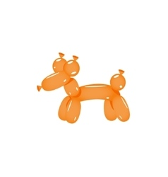 Orange Balloon Dog vector image