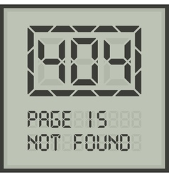 Page in not found digital error message vector image