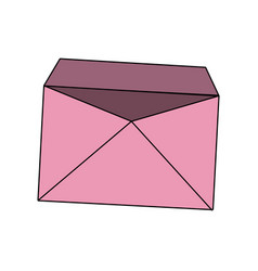 Pink blank envelope open postal email vector