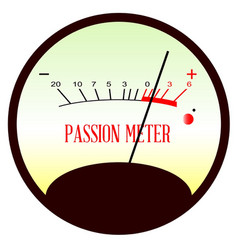 Red hot passion meter vector
