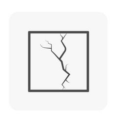 Slab icon black vector