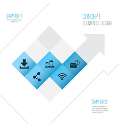 Social icons set collection of publish vector