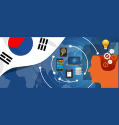 south korea it information technology digital vector image