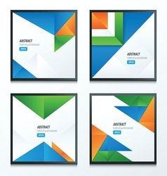 Striped triangle template design vector image