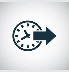 time arrow icon for web and ui on white vector image