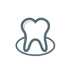 tooth dental care logo template vector image