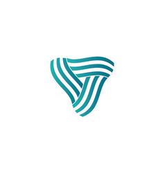 triangle swirl logo vector image