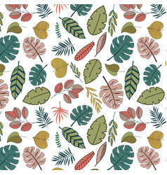 tropic leaves seamless pattern vector image
