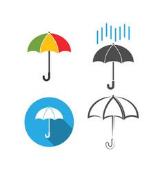 umbrella icon graphic design template vector image