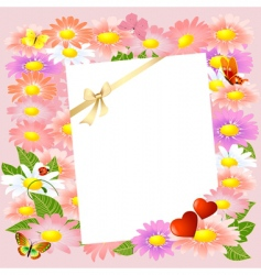 valentine letter to the flowers vector image