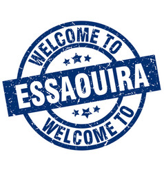 Welcome to essaouira blue stamp vector