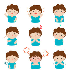 xavariety boy face expression vector image vector image