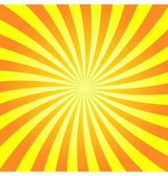 Yellow orange rays poster star burst vector