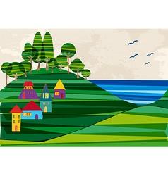 Contemporary seashore town vector image vector image