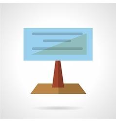 Large billboard flat icon vector image vector image