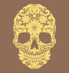 Skull Ornamental Flower vector image